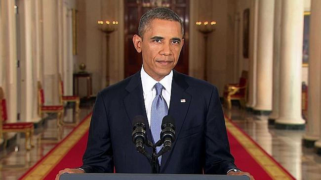 President Obama during his speech last year. Picture: Supplied