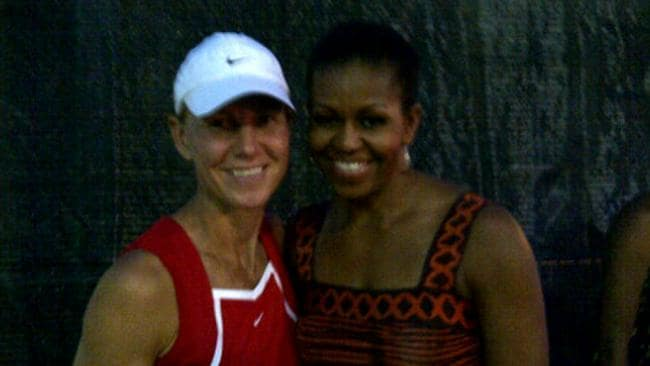 And hangin' with her bestie, Michelle Obama.