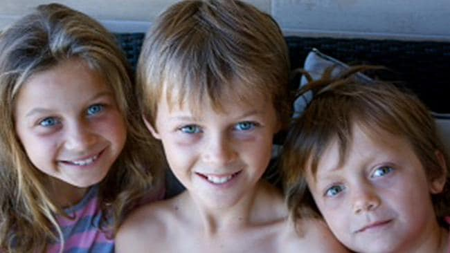 Family heartbroken ... Evie, Mo and Otis Maslin lost their lives in the Malaysia Airlines flight MH17 disaster.