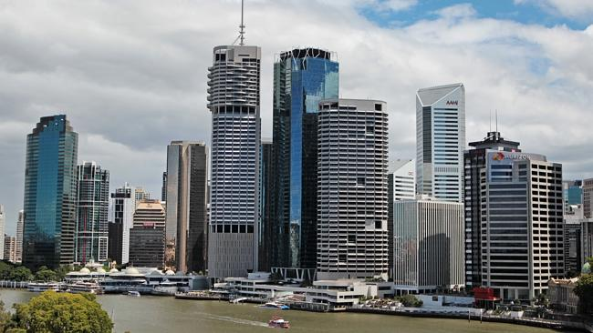 PROPERTIES in the Brisbane CBD are tipped for strong growth. Picture: Tim Marsden.