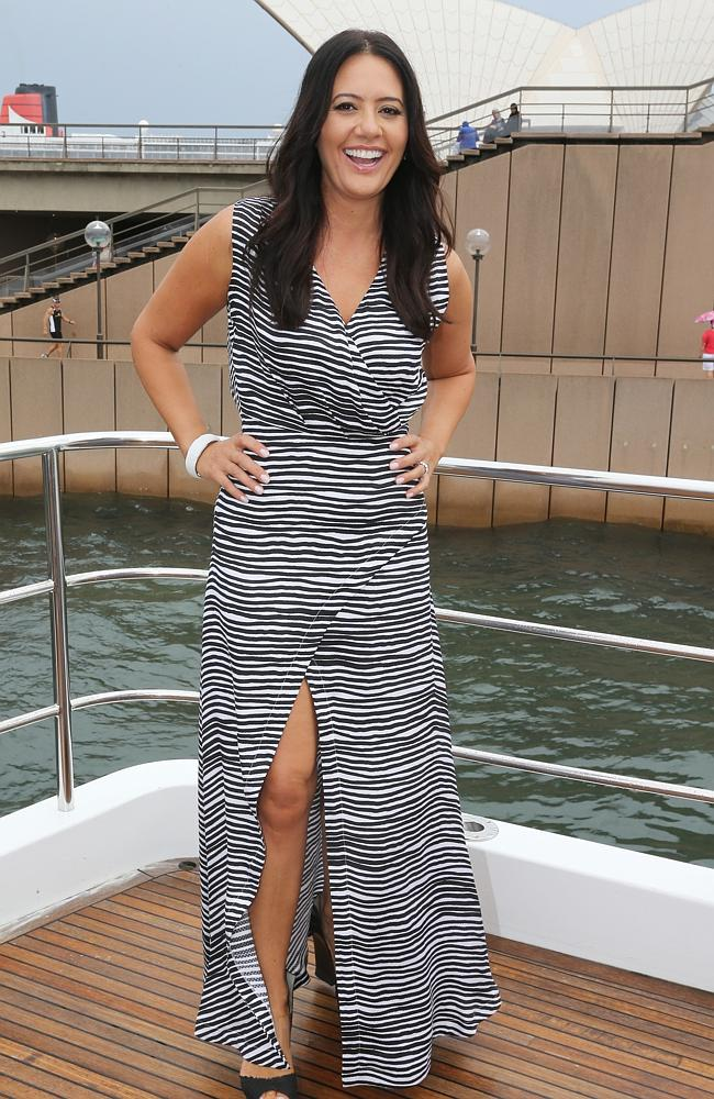 In Sydney Harbour ... Real Housewives of Melbourne cast favourite Lydia Schiavello..