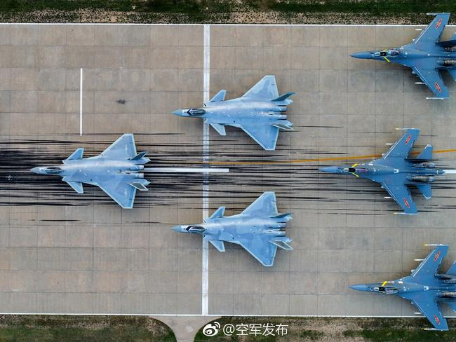 The J-20 is taking its place on the front line alongside Chinese versions of Russia's Su-35 fighters.