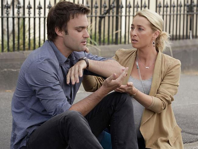 Tragic end ... Le Nevez starred as Dr Patrick Reid alongside Asher Keddie in Offspring.