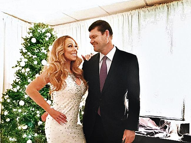 Star power ... Packer and Carey were engaged in New York last month. Picture: Instagram