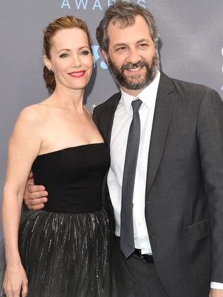 Actress Leslie Mann and director Judd Apatow. Picture: Jason Merritt/Getty Images