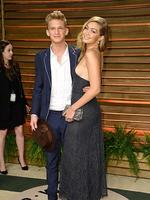 Aussie singer Cody Simpson and Model Gigi Hadid attends the 2014 Vanity Fair Oscar Party. Picture: Getty