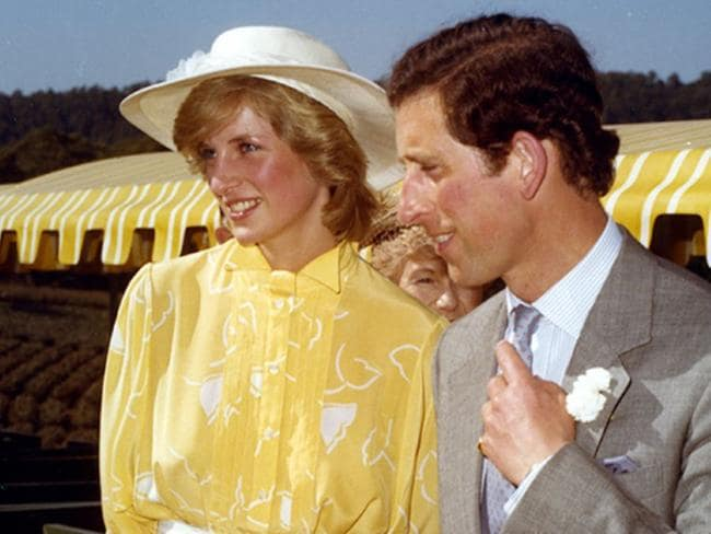 Prince Charles and Princess Diana ready to board the plantation train at the Sunshine Plantation, Woombye, April 12, 1983. Picture: Visit Sunshine Coast