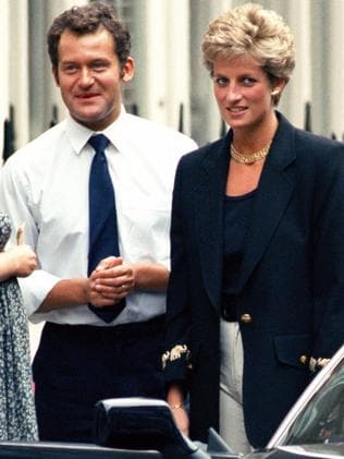 Diana and her butler, Paul Burrell. Picture: Getty Images