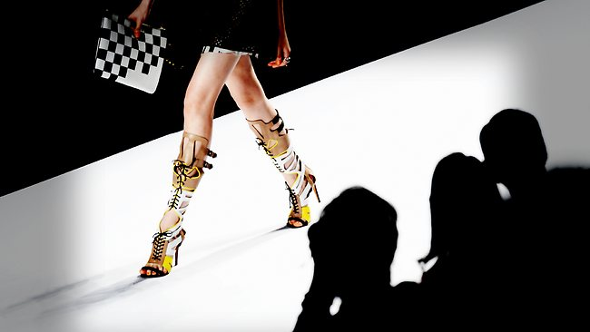 A model walks the runway at the Rebecca Minkoff Spring 2014 runway show during Mercedes-Benz Fashion Week Spring 2014 at Lincoln Centre for the Performing Arts in New York City. Picture: Getty
