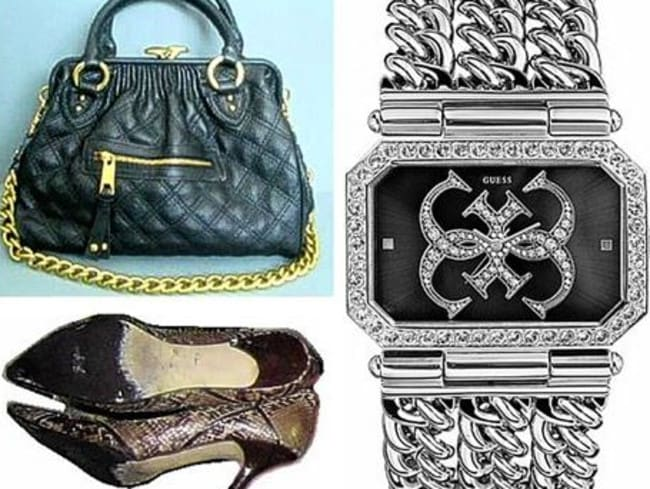 The victim's Marc Jacobs handbag, Guess watch and Marc Jacobs snakeskin shoes have never been recovered. Police released photographs of similar items pictured above. Picture: Metropolitan Police