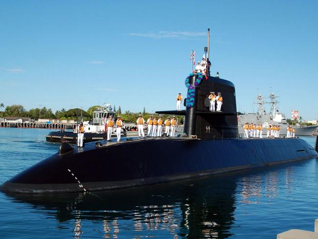 A Soryu class submarine ... In action. Picture: Supplied