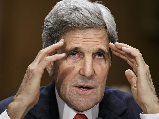 Diplomatic headache ... US Secretary of State Kerry will meet with diplomats from the EU,