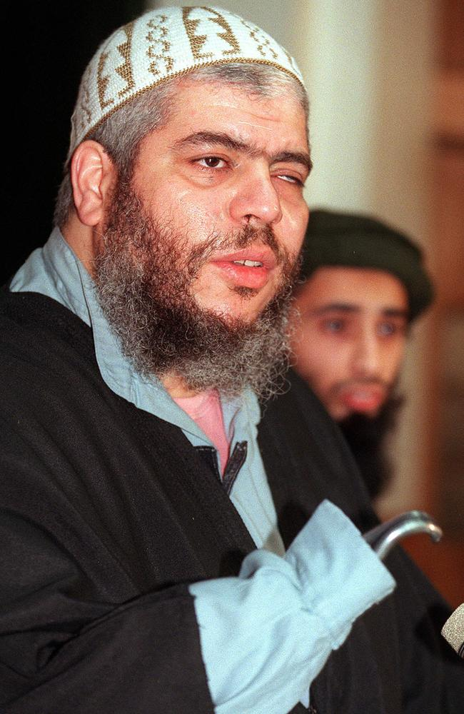 Former Egyptian strip club bouncer turned cleric Abu Hamza al-Masri, was imam at Finsbury Park Mosque from 1997 to 2002. He is serving a life sentence with parole never to be allowed.
