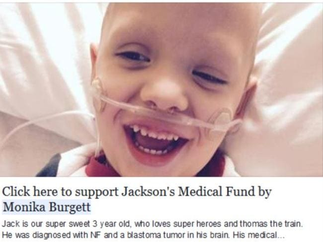 Jackson, now aged five, is now thriving in the care of his father.