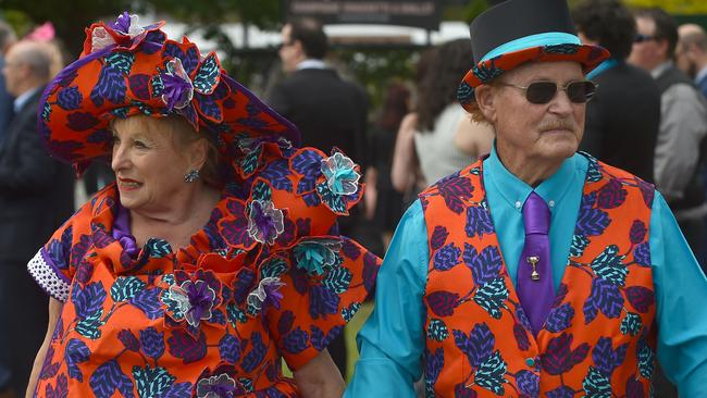 Couple dressing perfection. Picture: AFP Photo / Paul Crock
