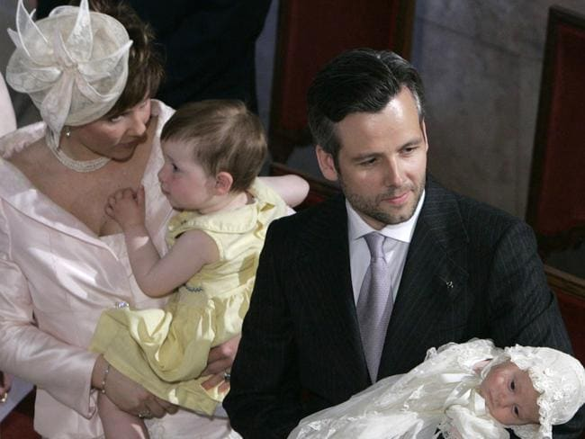 Ari Behn with his then wife, Norway's Princess Martha Louise and their children in 2005. Picture: AFP