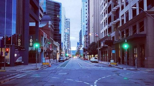 Sunday, 6.30pm, Adelaide CBD. Not a soul.