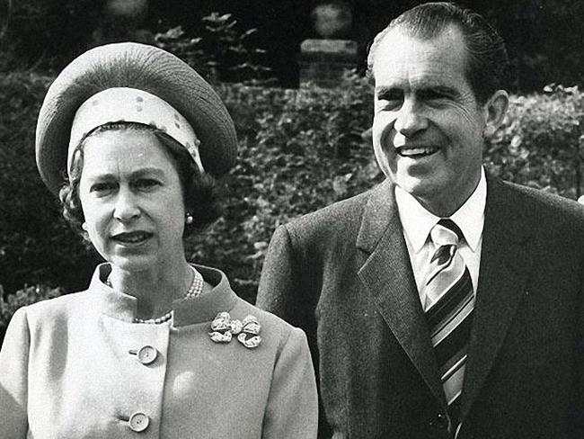 Queen with US Presidents: Queen Elizabeth with President Richard Nixon at Chequers, Buckinghamshire, in 1970.
