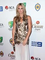 Candice Falzon on the red carpet arriving at the 2014 Allan Border Medal held at Doltone House at Hyde Park.