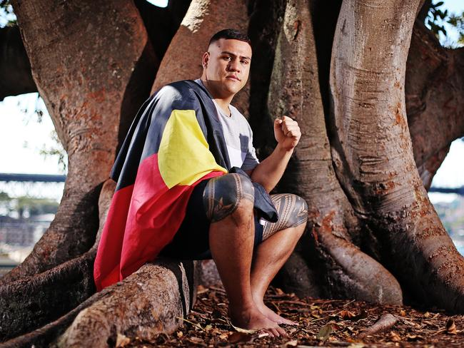 Heavyweight fighter Tai Tuivasa is blazing a trail in UFC. Picture: Sam Ruttyn