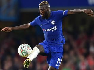 Chelsea's French midfielder Tiemoue Bakayoko controls the ball during the English League Cup third round football match between Chelsea and Nottingham Forest at Stamford Bridge in London on September 20, 2017. / AFP PHOTO / Glyn KIRK / RESTRICTED TO EDITORIAL USE. No use with unauthorized audio, video, data, fixture lists, club/league logos or 'live' services. Online in-match use limited to 75 images, no video emulation. No use in betting, games or single club/league/player publications. /