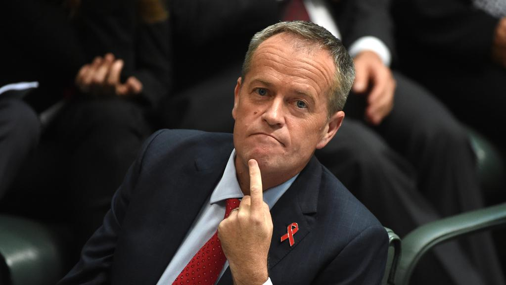 Leader of the Opposition Bill Shorten suggests the Coalition will swap out Malcolm Turnbull before the next election. Picture: AAP