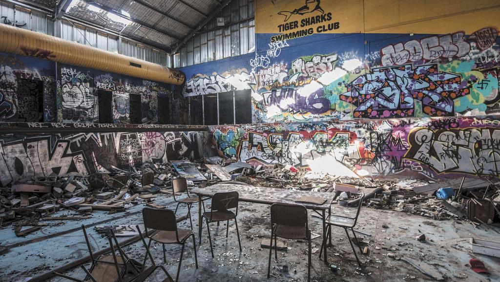 Tiger Sharks Swimming Club Former Pool Wrecked By Vandals Leader