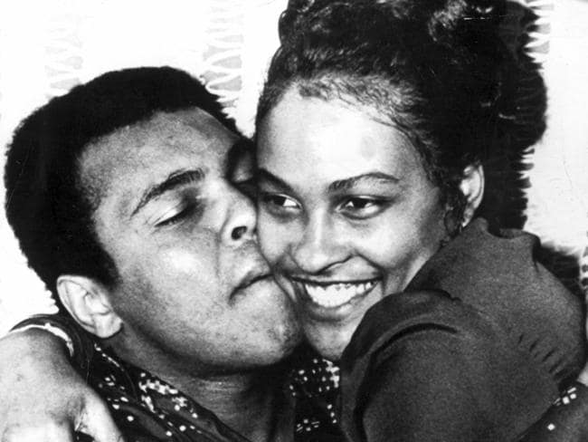 Muhammad Ali with his second wife Belinda.