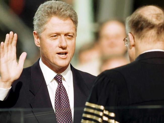 President Bill Clinton is sworn in for his 2nd term in 1997. AP Photo/J. Scott/Applewhite