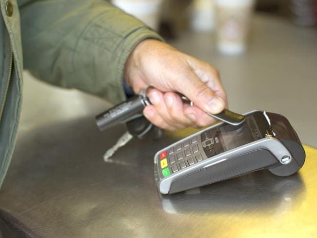 """Limited transactions ... The new """"BPay"""" wearable payment device has a transaction limit in the UK of an equivalent of about $40, which will increase to $60 in September. Picture: Supplied"""