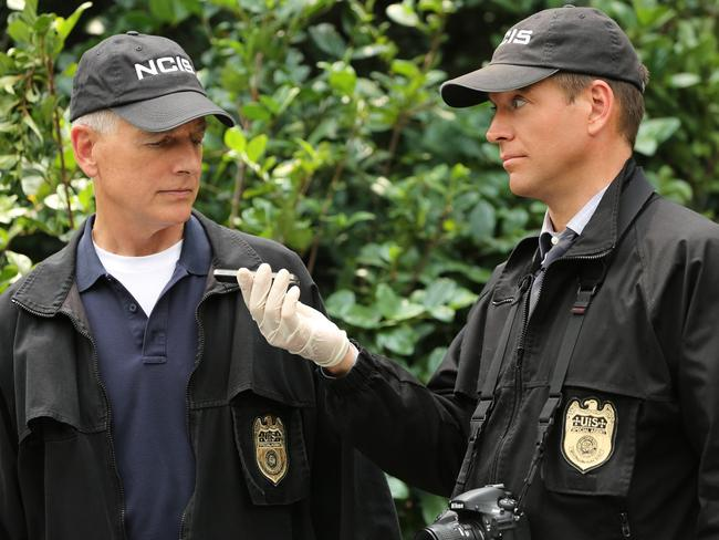 Mark Harmon and Michael Weatherly in NCIS. Picture: Channel 10