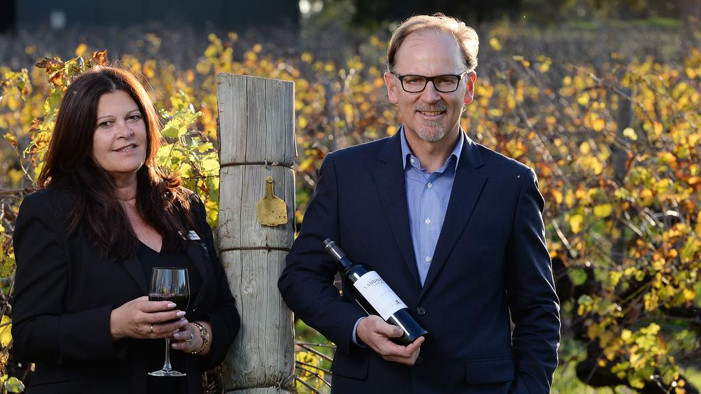 Sandalford chief executive Grant Brinklow and function sales manager Jenny Hvalgaard. Picture: Daniel Wilkins