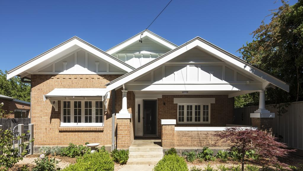 The front facade of this home in Orange was left virtually untouched, in keeping with the heritage values of the street. Picture: Tom Ferguson