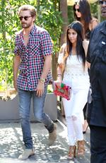 Khloe Kardashian, Kendall Kardashian has lunch with Kourtney Kardashian and Scott Disick at The Villa in Woodland Hills on June 23, 2015. Picture: Splash
