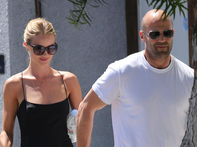 Rosie Huntington-Whiteley and Jason Statham spotted in Beverly Hills.