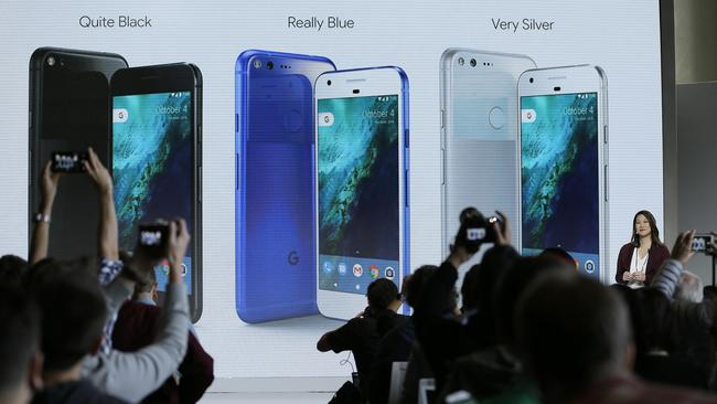 Sabrina Ellis, Google director of product management, introduces Google's Pixel phones in San Francisco. Picture: AP Photo/Eric Risberg