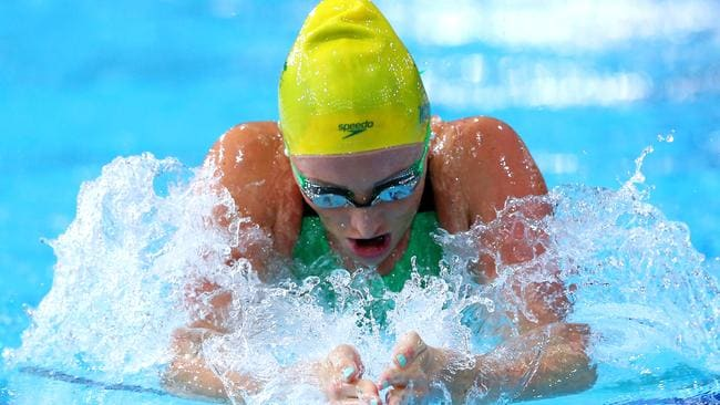 Gold medallist Taylor McKeown of Australia competes during Women's 200m Breaststroke Final.
