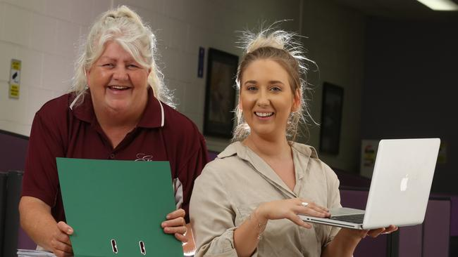 Sue Fraser, 55, and April McNamara, 22, have both recently found work despite stereotypes around their age. Picture: Stuart Milligan.