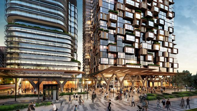 Among the new units getting built include this development in St Leonards, which will include the lower north shore's tallest residential tower.