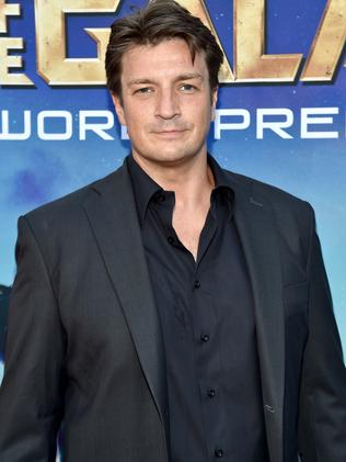 Fillion suits up for the Guardians of the Galaxy premiere in LA. Picture: Getty