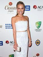 Lee Watson on the red carpet arriving at the 2014 Allan Border Medal held at Doltone House at Hyde Park. Picture: Richard Dobson