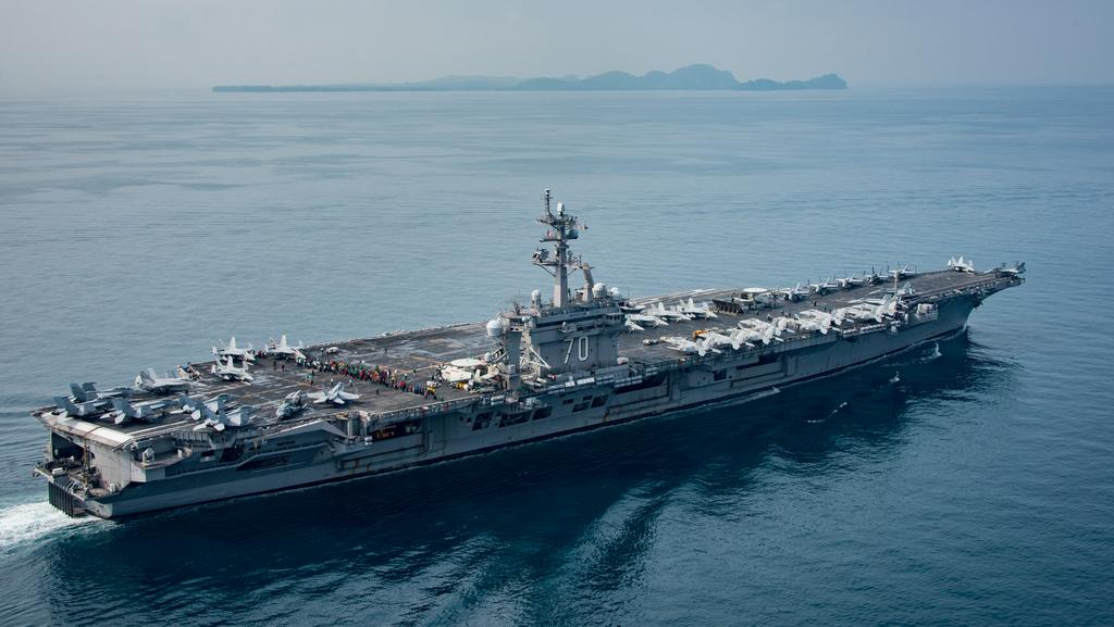 The aircraft carrier USS Carl Vinson was not in the Sea of Japan like the White House said. Picture: Getty