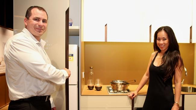 Catherine and Andrew Taylor purchased an apartment off the plan in Central Park.