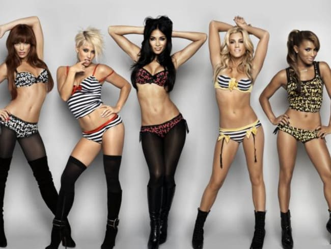 Nicole Scherzinger (centre) in a publicity photo with The Pussycat Dolls.