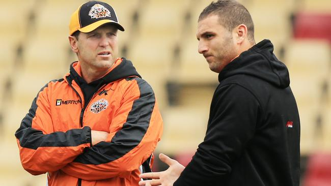 Mick Potter and Robbie Farah have had their problems this season. Pic: Mark Evans