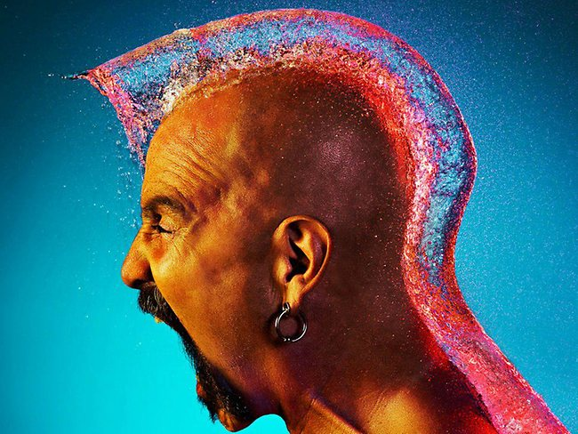 Water Wig photos wow: photographer Tim Tadder spent hours working out how to capture water balloons milliseconds after impact.