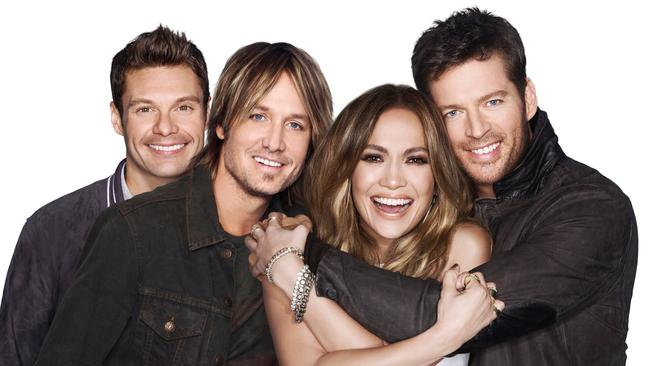 Good for their own careers ... American Idol stars Ryan Seacrest, Keith Urban, Jennifer Lopez and Harry Connick Jr.