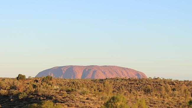 The view of Uluru just before sunset. Picture: Supplied