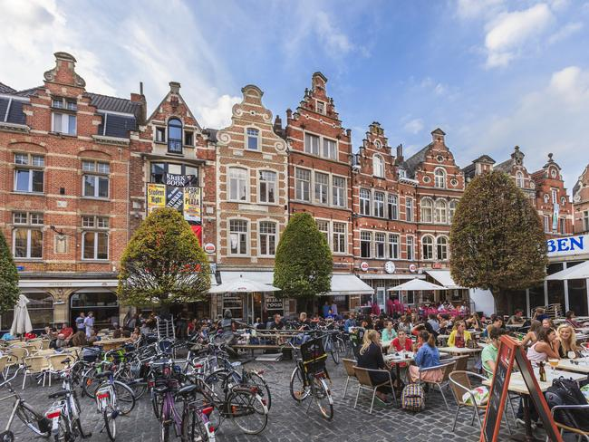 "Leuven's Oude Markt is known as the ""longest bar in the world""."