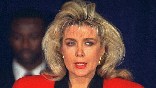 Gennifer Flowers speaks to the media in 1992 where she first aired claims of her long affair with Bill Clinton. Her allegations almost derailed his bid for President.
